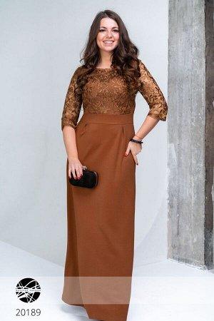 Платье макси с гипюром