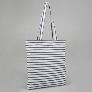 Сумка текстильная, отдел без молнии, без подклада, цвет белый