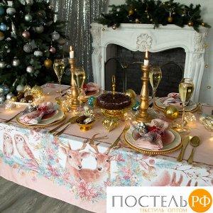 """Набор столовый Этель """"Pink magic"""" скатерть 180*150 см, салфетки 40*40 см 8 шт, хлопок 100%   4496655"""