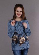 Кофта Юлия Цветы 3-469а