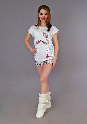 Пижама Яна(принт зая) 4-200а