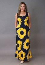 Платье Леди (Крупная ромашка) 3-179а