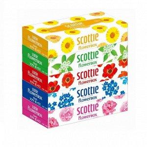 """Салфетки Crecia """"Scottie Flowerbox"""" двухслойные 160шт*5кор/12"""