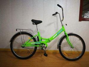 Велосипед Гамма 24 складной ЭКОНОМ (зеленый)