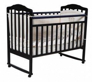 """Детская кровать """"Helen""""(1) а/с, колесо качалка (шоколад) 12876"""