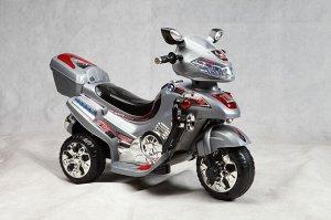 Мотоцикл на аккумуляторе для катания детей  С051 (серебро)