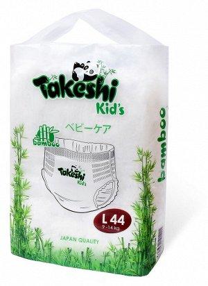Takeshi Kid's Подгузники-трусики для детей бамбуковые L (9-14 кг) 44 шт 1/4 501221