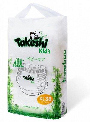 Takeshi Kid's Подгузники-трусики для детей бамбуковые XL (12-22 кг) 38 шт 1/4 501238