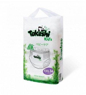 Takeshi Kid's Подгузники-трусики для детей бамбуковые ХXL (15-28 кг) 36 шт 1/4 501245
