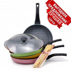 Набор сковородок Ecoramic с каменным антипригарным покрытием