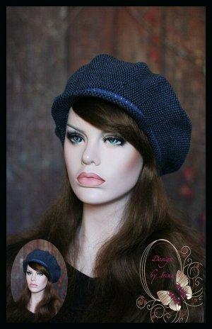 Женская кепи с козырьком ЭСМИ (джинс)
