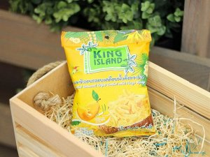 Кокосовые чипсы KING ISLAND  со вкусом манго 40 гр 1/24
