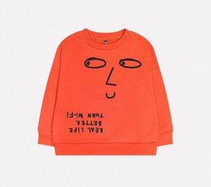 Джемпер для мальчика Crockid КР 300814 кирпично-оранжевый к226
