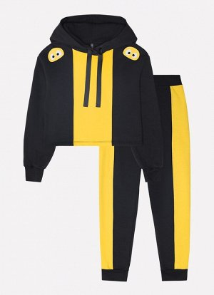 Комплект для девочки КБ 2633 черный, желтый к19