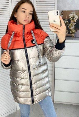 Куртка+ Наполнитель холлофайбер  ОГ - 112 см.