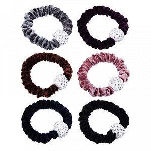 BERIOTTI Резинка для волос с декором, полиэстер, пластик, 5-6 цветов, НА2016-19