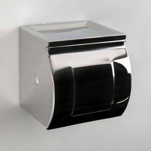 Держатель для туалетной бумаги зеркальный, с втулкой, с пепельницей 12?12.5?13 см