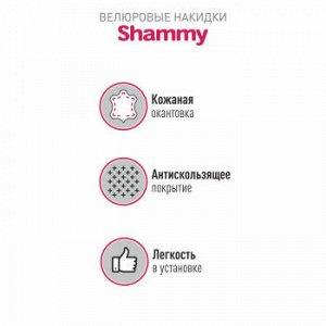 Накидки CARFORT Shammy узкие, к-т для переднего ряда, микровелюр, черный красная прошивка 2шт
