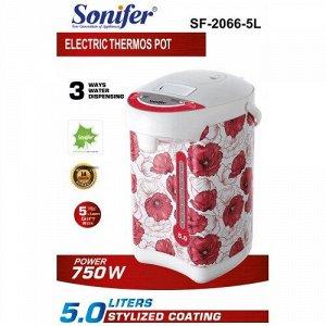 Поттер чайник-термос (термопот) Sonifer, 3 способа подачи воды, мощность 750w, объем 5.0л Нержавеющая сталь пищевой внутренний горшок Автоматическое кипячение, сохранение тепла и повторное кипячение З