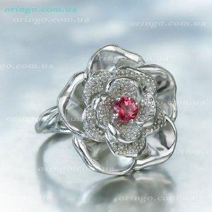 Кольцо Сенполия, Swarovski Pink Topaz