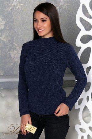 Водолазка женская «Ангора» синяя