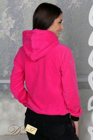 Толстовка «Эпатаж» флис розовая