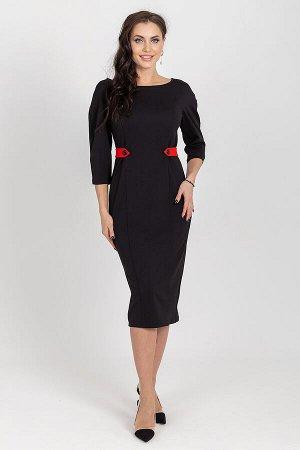 Платье Шаг вперед (блэк/рэд) П1204-11