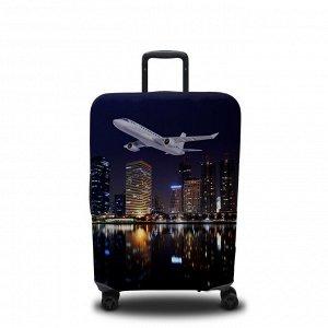 Чехол для чемодана Самолёт над Манхеттеном