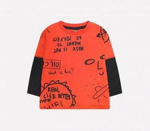 Джемпер для мальчика Crockid КР 300813 кирпично-оранжевый к226
