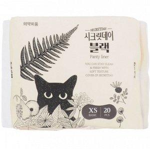 """Ультратонкие дышащие ежедневные  прокладки """"Secretday"""", 20 шт. (14,5 см) Корея"""