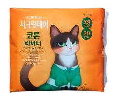 """Ультратонкие дышащие ежедневные  прокладки """"Secretday"""", 20 шт.(15 см) Корея"""