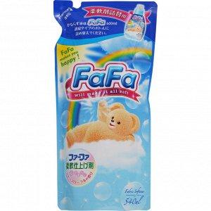 """""""Nissan FaFa"""" """"Прикосновение облака"""" Кондиционер для белья (детский, концентрированный с аромат цветов, мягкая упаковка), 540 мл"""