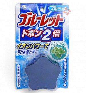 06746 Таблетка для бачка унитаза с эффектом окрашивания воды «Bluelet – мята» 120гр.