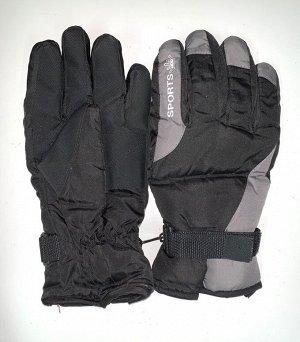 Перчатки Теплые серо-черные перчатки  №4473