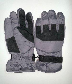 Перчатки Сиреневые теплые перчатки с черными вставками  №4476