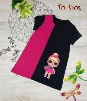 Арт. КУЛ/П37 Платье c пришивной аппликацией. Размер с 86-128