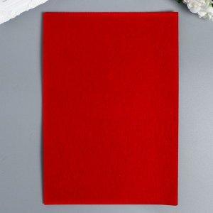 """Фетр жесткий 1 мм """"Красный"""" набор 10 листов формат А4"""