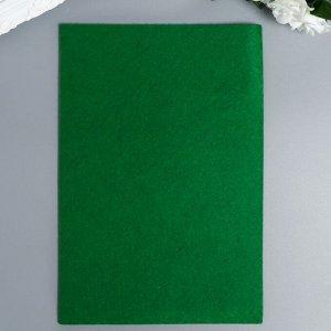 """Фетр жесткий 1 мм """"Летняя зелень"""" набор 10 листов формат А4"""