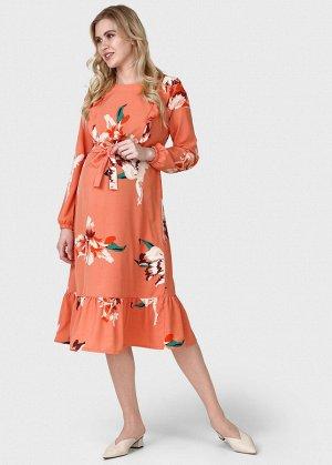 """Платье """"Мариана"""" для беременных и кормящих; цвет: коралловый"""