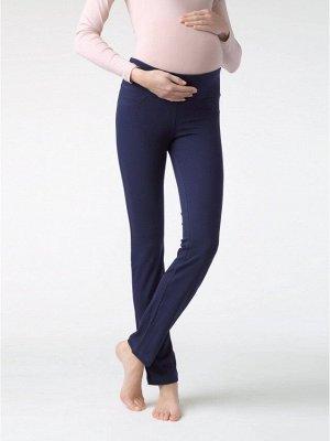 Happy Belly Леггинсы для беременных (Conte) широкий пояс с эластичной тесьмой,имитация гульфика