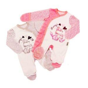 Комбинезон ЦВЕТ В АССОРТИМЕНТЕ. Полотно интерлок. Комбинезон для новорождённых с ассиметричной застёжкой и царапками, выполненный наружными швами.