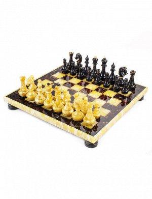 Шахматная доска из натурального балтийского янтаря с янтарными фигурками, 905511077