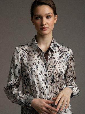 Блузка с принтом B2412/linavi