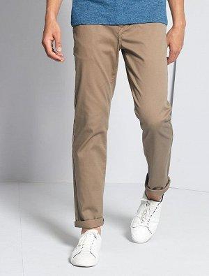 Прямые брюки-чинос из пике
