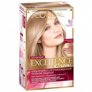 NEW Крем краска д/волос Эксэлланс 9.1 очень светло-русый пепельн.