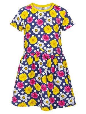 Платье  Цвет:темно-синий