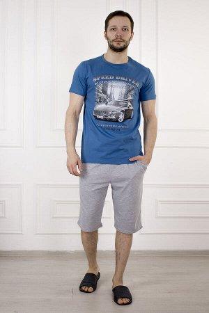 Костюм 884 ралли голубой (серые шорты)