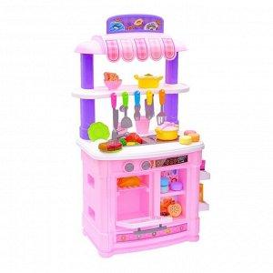 Игровой модуль кухня «Шик» №1 с индукционной плитой, бежит вода из крана, высота 85 см