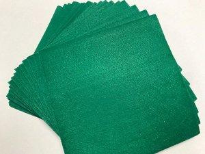 Фетр 1 мм жесткий 10 листов цвет зеленый
