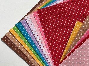 Фетр 1 мм жесткий с рисунком 30*30см 10 листов цвет микс